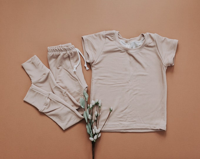 Taupe Bamboo French Terry Set