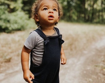 Bamboo French Terry Knotted Overalls