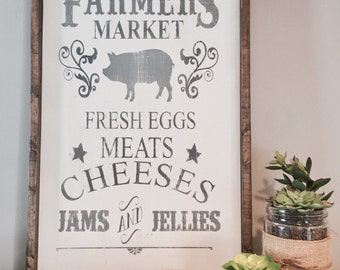 Farmers Market|Wood Sign