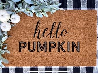 Hello Pumpkin|Doormat