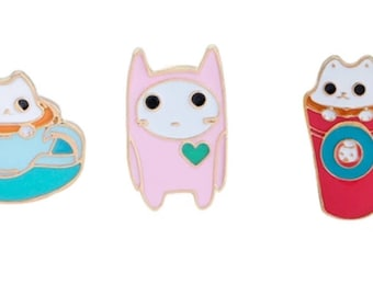 Dressed Up Kitty Pins - Enamel Pin in fun colors