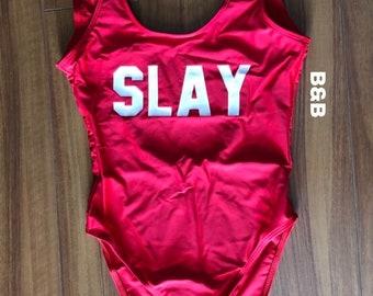 Slay One Piece Swimsuit (Red w/ White)