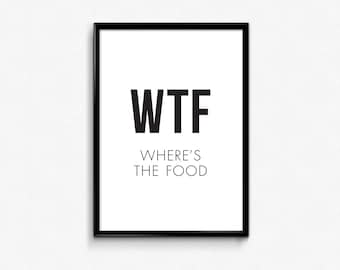 Funny Food Quotes Etsy