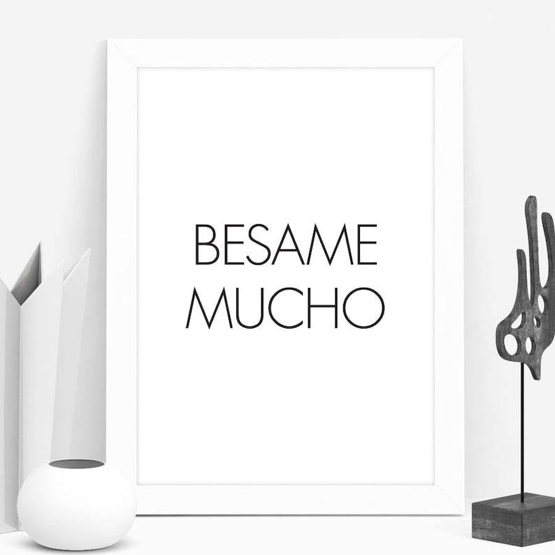 Spanish Quotes Besame Mucho Music Lyrics Print 11x14 Art Etsy
