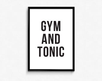 workout quotes, graphic download, workout printable, Gym and Tonic, Gym Decor, workout poster, gym decals for walls, graphic quote, Gym Art