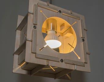 Moderne Lampen 88 : Sperrholz lampe mit Öffnung flügel industrie lampe mit etsy