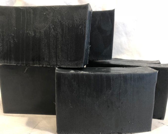Charcoal Goats Milk Soap Eucalyptus Essential Oil
