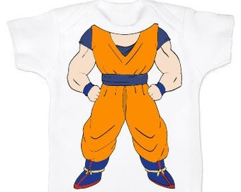 66290732f Headless Goku Baby Bodysuit - Baby Shower - Fun Gifts - Unisex One Piece  Baby Clothes