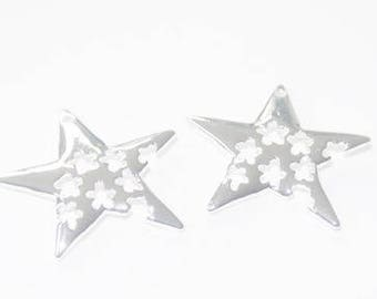 Charms star in Silver (set of 2)