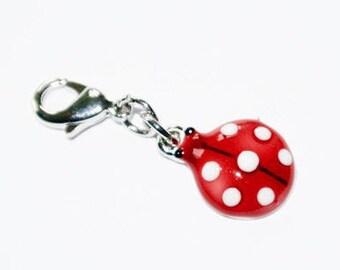 Charm clasp Ladybug charm