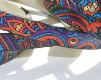 Ribbon width 6mm synthetic flat fancy