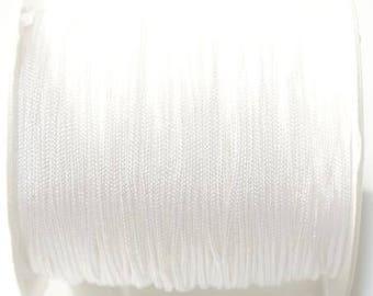 Colored nylon thread: white - 1 mm