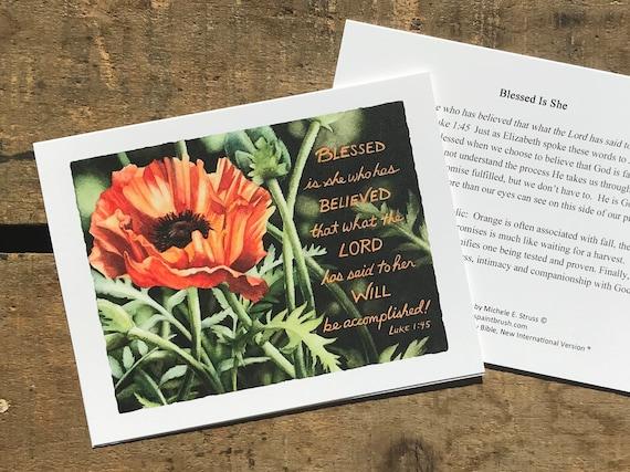 Notecard Orange Seed Praying