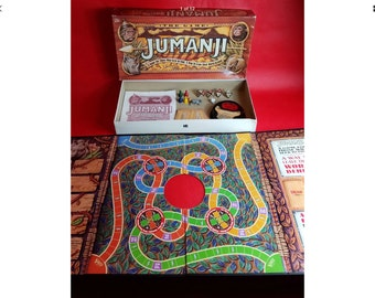 1995 Milton Bradley Jumanji board game 1995 robin Williams