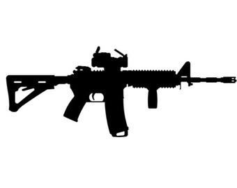 F*CK GUN CONTROL Decal Sticker Pro Gun Rights 2nd Amendment NRA Handgun AR15