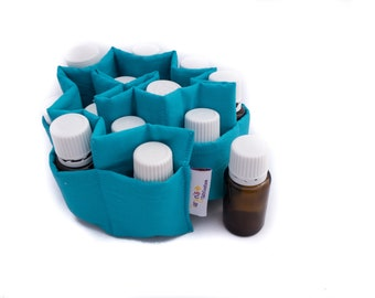 Essential Oils Insert Removeable Turquoise, padded divider for oils, doTerra bag insert, Young Living pocket, Aromatherapy purse organizer