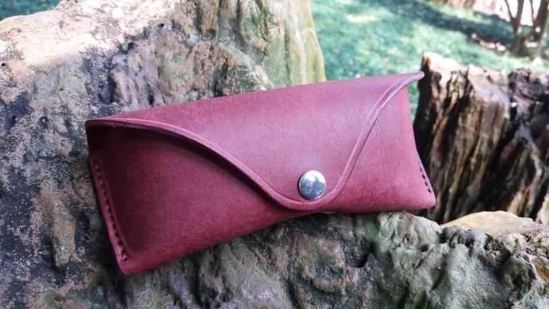 6852bca921d Handmade Badalassi PUEBLO leather eye glasses case Italian