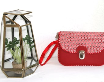 Gigi Collection Asanoha red pouch