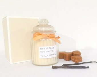 Soy wax candle - Vanilla Caramel scented soy candle