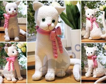 PATTERN (English Only):  Window Cat - crochet cat, crochet decorative cat, amigurumi cat - Instant PDF Download