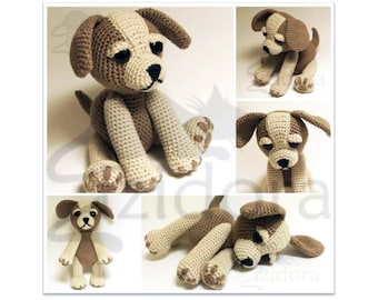PATTERN (English Only): Sammy the Puppy Dog, Crochet dog, crochet Animal, Crochet Puppy, Amigurumi Puppy Pattern - Instant PDF Download