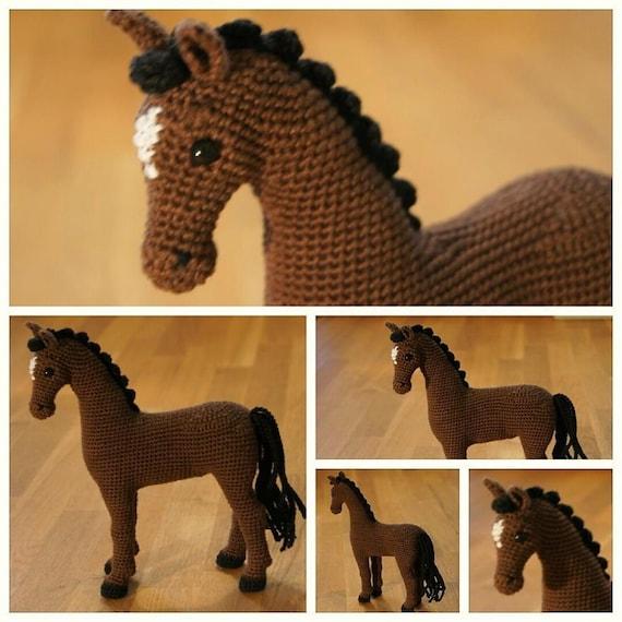Crochet Horse Crochet Animal Amigurumi Horse Hayley The Etsy