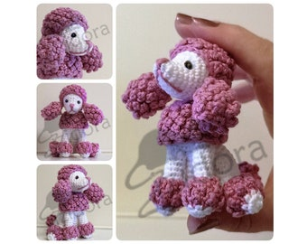 PATTERN (English Only): Pink Vanity Poodle - Crochet Poodle, crochet dog, Amigurumi Poodle, Amigurumi Dog Pattern - Instant PDF Download