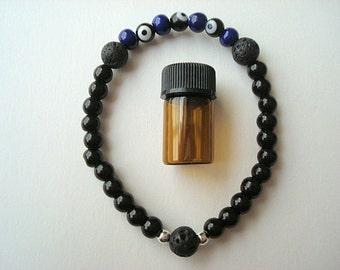 Evil Eye Essential Oil Diffuser Bracelet, Evil Eye Protection, Aromatherapy Bracelet, Essential Oil Bracelet, Diffuser, Evil Eye Bracelet
