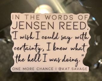 Jensen Quote Sticker