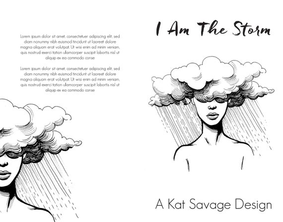 Premade Poetry Cover - I Am The Storm