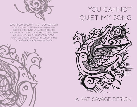 Premade Poetry Cover - You Cannot Quiet My Song