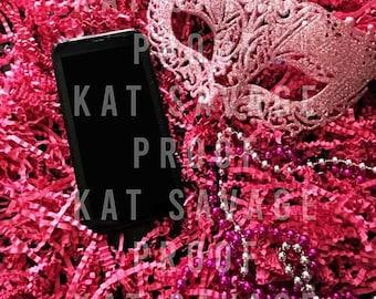 Pink Mask 1 Flatlay