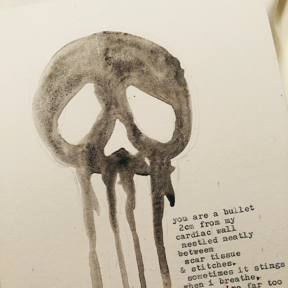 Death - Watercolor - Signed