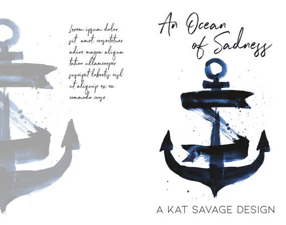 Premade Poetry Cover - An Ocean of Sadness