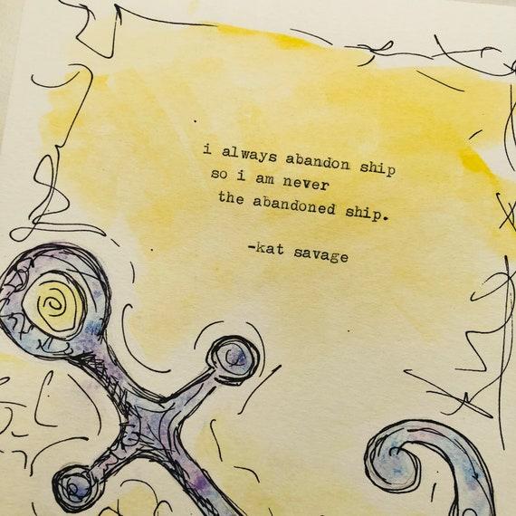 Abandon Ship - Watercolor - Signed