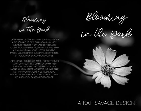 Premade Poetry Cover - Blooming In The Dark