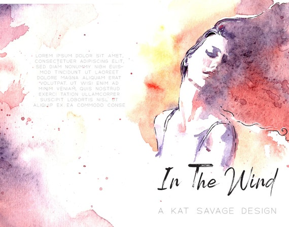 Premade Poetry Cover - In The Wind