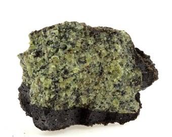 rustic decor specimens terrarium nature decor science geology Mineral specimen Peridotite olivine stones