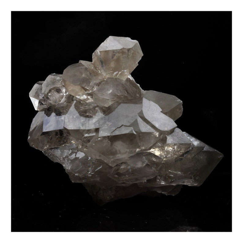 Haute-Savoie Mont Blanc Massif Smoked quartz France. 782.0 ct