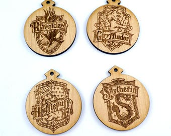 Harry Potter Style Christmas Ornament Set - Set of 4
