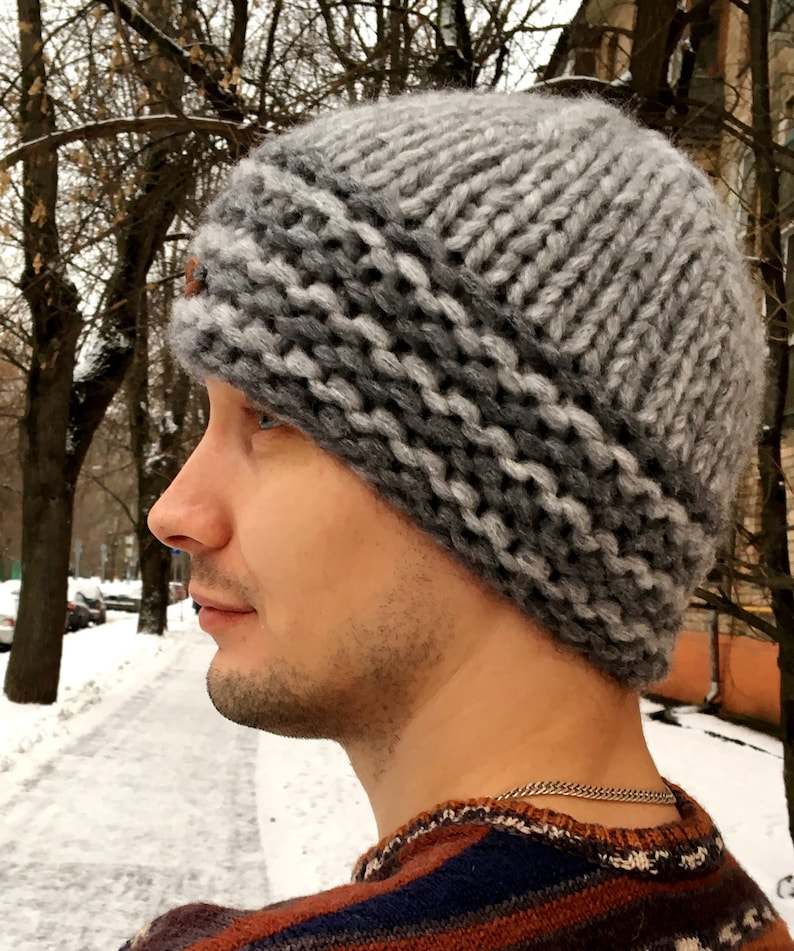 3454923166a9d Mens Hat   Men s Knitted Hat   Chunky Knit Hat   Hand Knit