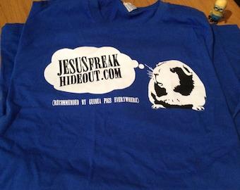 Jesusfreakhideout.com Guinea Pig Blue Tee