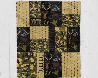 Personalized Camo Blanket d754417ddc19
