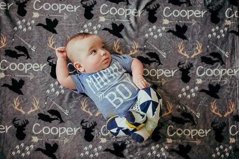 Personalized Baby Blanket Monogrammed Baby Blanket Name image 0