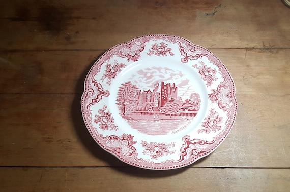 Johnson Bros Old Britain Castles Pink Dinner Plate Blarney Castle