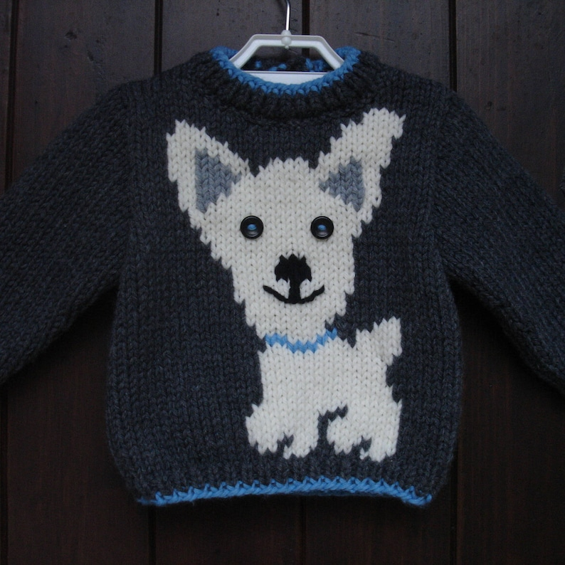 41eee433978f Handmade baby sweater pattern dog 9 months to 6 years