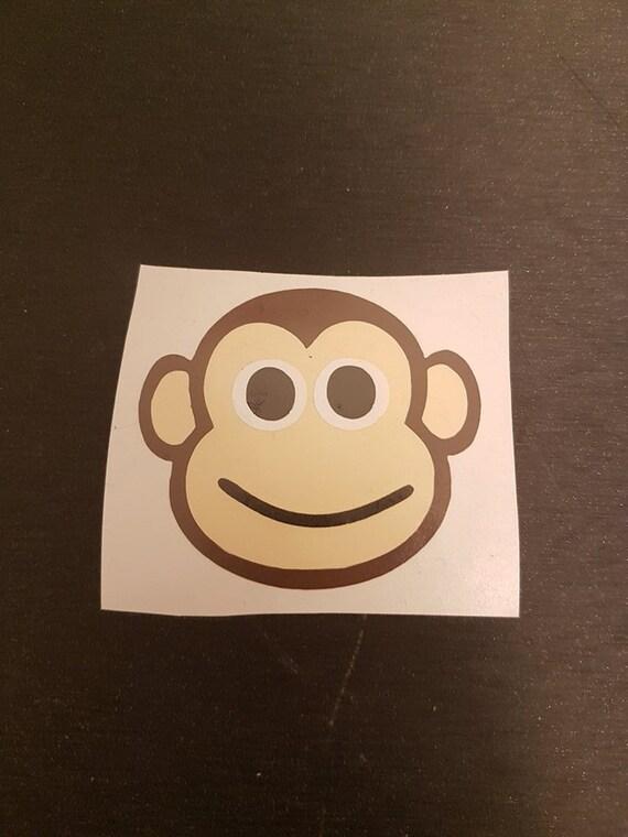 VINYL DECALS boy monkey children fun diy stickers water bottles party