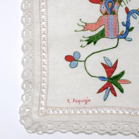 Interesante bordado antiguo artesanal de La Alberca   Etsy