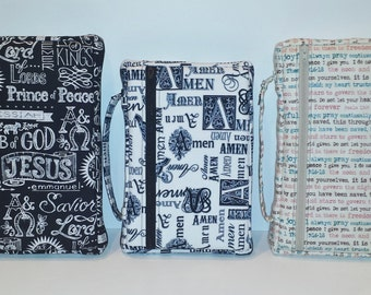 Zippered Bible Cover SEWING PATTERN, DIY