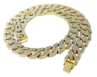 5002e41cdaeeb2 Iced Out Link Chain Necklace & Bracelet Bundle Pack
